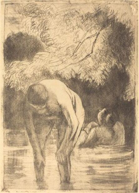 Camille Pissarro, 'Two Women Bathing (Les deux baigneuses)', 1895