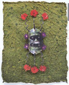 Ashley Bickerton, 'Green Reflecting Head Sam No.5'