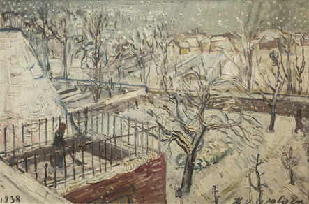 Henri-Victor Wolvens, 'Jardin dans la neige', 1938
