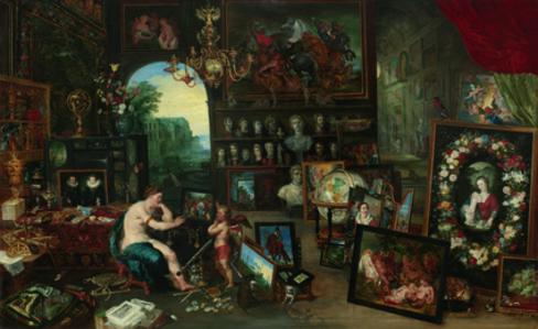 Jan Brueghel the Younger, 'The Five Senses: Sight', 1625