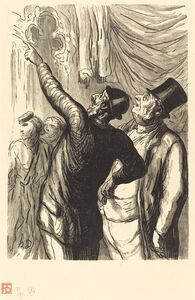 Julien Antoine Peulot after Honoré Daumier, 'Exposition universelle: Un Vrai cicerone', 1867