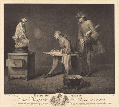 Jacques-Philippe Le Bas after Jean Siméon Chardin, 'Etude du dessin', 1757