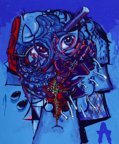 "Aaron Curry, '""My Brain is an Antenna""', 2016"