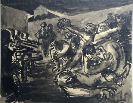 Jacek von Henneberg, 'Firing Squard, After Goya's Third of May (1808)', 1957