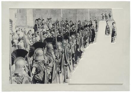 John Baldessari, 'Crowds with Shape of Reason Missing: Example 6', 2012