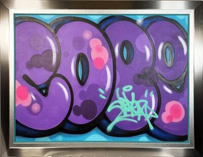 Cope2, ''Purple Tag' (framed)', 2020
