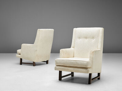 Edward Wormley, 'Set of Lounge Chairs in Original Upholstery', 1950s