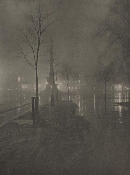 William A. Fraser, 'Wet Night, Columbus Circle, New York', 1899