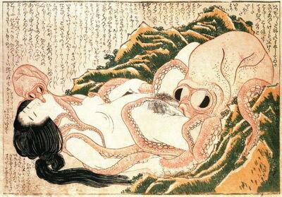 Katsushika Hokusai, 'Tako to ama 蛸と海女 (Dream of the Fisherman's Wife, or, Diver Girl and Octopus)  ', 1814