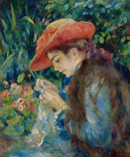 Pierre-Auguste Renoir, 'Marie-Thérèse Durand-Ruel Sewing', 1882