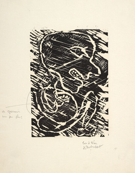 Jean Dubuffet, 'Personnage Accroupi', 1948
