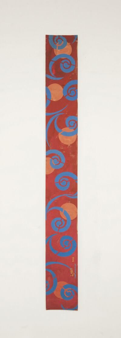 Chant Avedissian, 'B4 - Tashkent caftan spiral pattern in blue, 6 orange circles', 2016