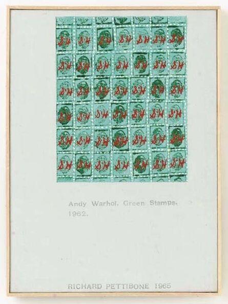 "Richard Pettibone, 'Andy Warhol, ""Green Stamps"", 1962', 1965"