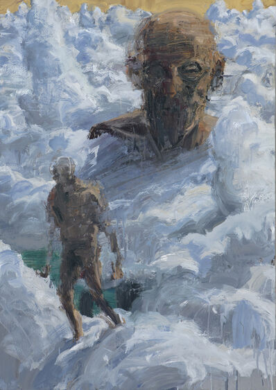 Euan Macleod, 'Head above clouds', 2019