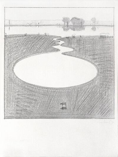 Wayne Thiebaud, 'Silver Landscape', 1971