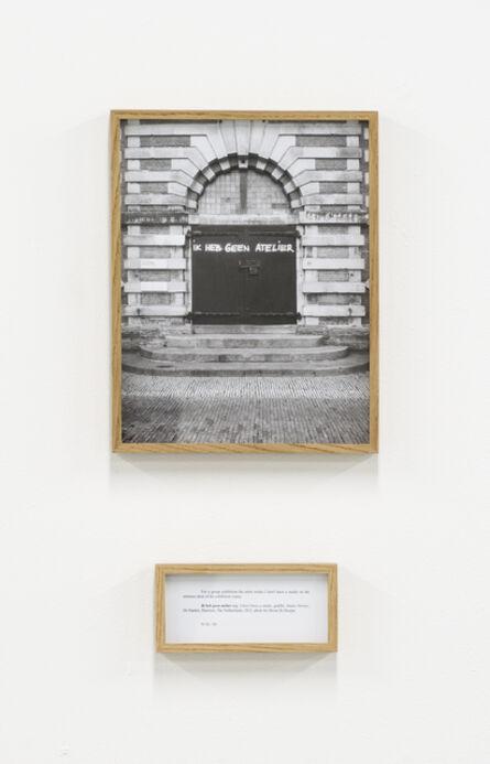 Ištvan Išt Huzjan, 'Ik heb geen atelier (I don't have a studio), from the series Performances,', 2012