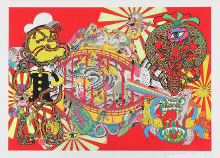 Keiichi Tanaami, 'Lost and Wandering Bridge Series_4', 2011