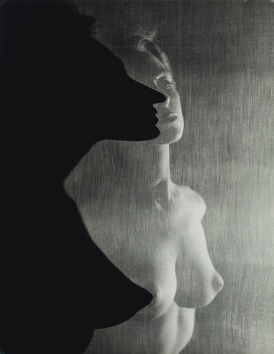 Erwin Blumenfeld, 'Shadow Profile Behind Veil (Female Nude)', 1942