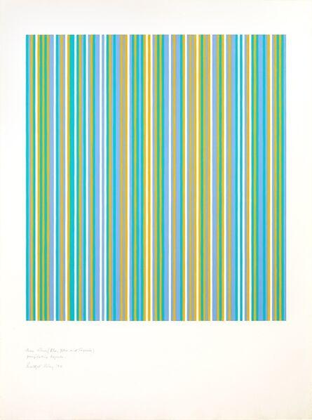 Bridget Riley, 'Three colours (Blue, Yellow and Turquoise) Precipitating Magenta ', 1982