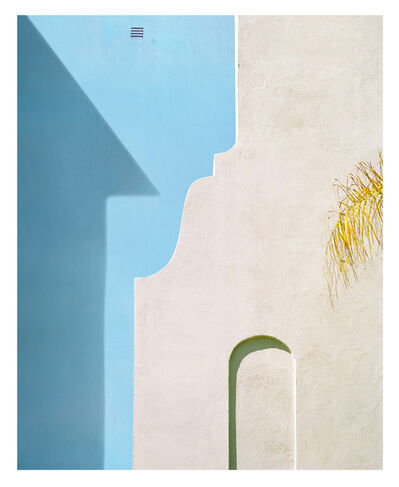 George Byrne, 'Yellow Wall With Blue', 2018