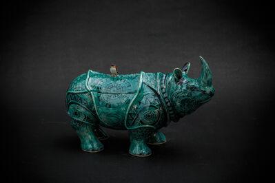 Kensuke Fujiyoshi, '12. Green Rhino', 2017