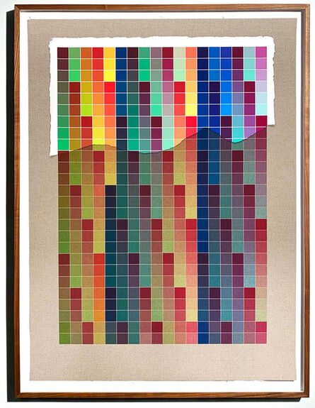 Analía Saban, 'Transcending Pigment from Paint to Canvas, from Canvas to Paint (Color) #3 No. VII', 2020