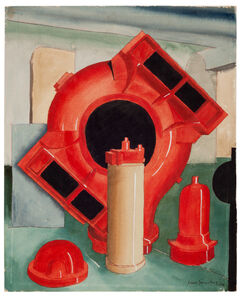Carl Grossberg, 'Wood models red (Weisse und Monski / Halle)', 1936