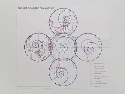 Wu Shanzhuan & Inga Svala Thórsdóttir, 'Larger World Map - Arctic Fox Arc - Temperature War 2013', 2013