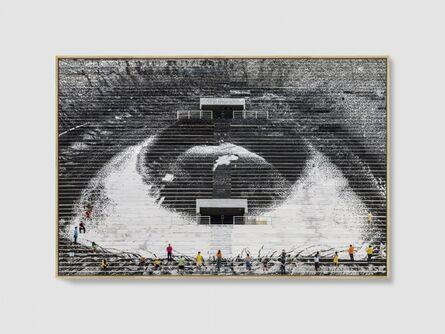 JR, 'Eye #4, Estadio de Pacaembu, Sao Paulo, 2020', 2020