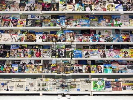 Liu Bolin, 'Italy - Magazine Rack', 2012