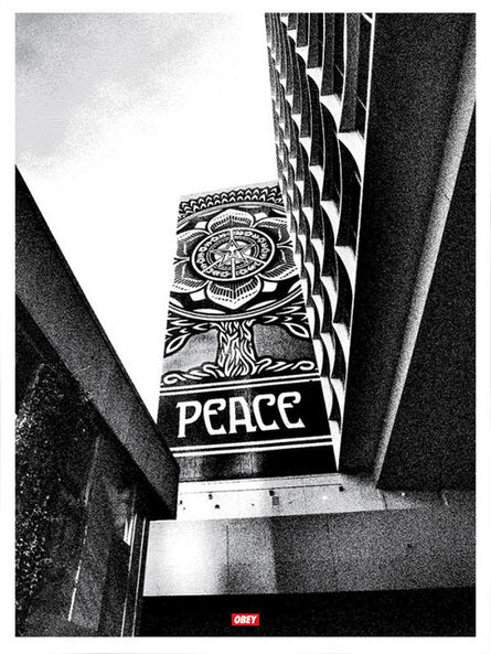 Shepard Fairey, 'Cover to Overt Peace Tree Silver', 2015