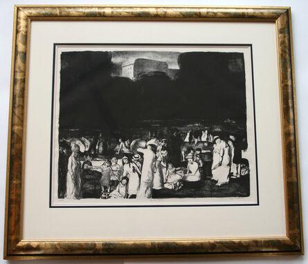George Bellows, 'In the Park, Dark', 1916
