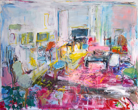 Brigitte Chombart de Lauwe, 'The drawing room in pink', 2017
