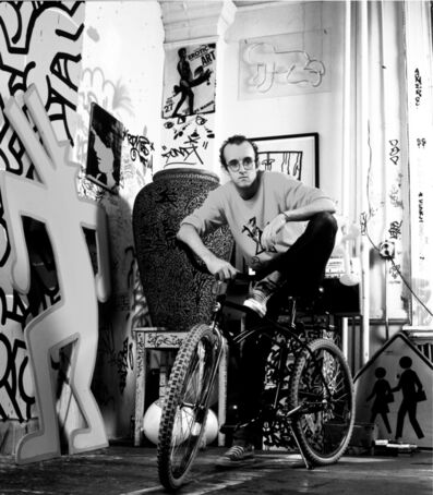Janette Beckman, 'Keith Haring 1985', 2017