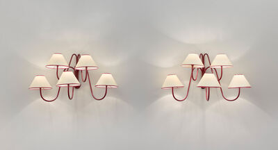 """Jean Royère, 'Pair of 5 arm """"bouquet"""" wall lights', ca. 1950"""