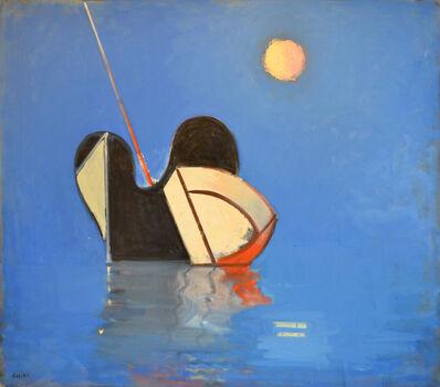 Paul Resika, 'Black Vessel & Moon', 2002