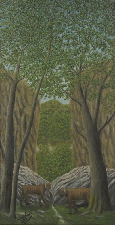 André Bauchant, 'Tigres dans la Forêt', 1925