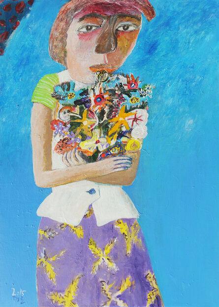 Kim Dae Yun, 'Woman and Flowers [꽃과 여인]', 2015