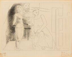 Pablo Picasso, 'Peintre entre deux modèles from Le Chef-d'œuvre inconnu', 1927