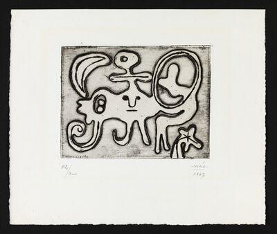 Joan Miró, 'Femme et Oiseau Devant la Lune (Dupin 51)', 1947