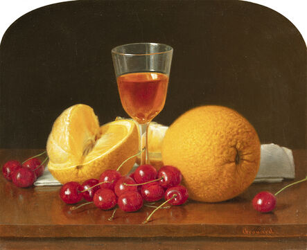 John E. Grouard, 'Still Life with Citrus and Cherries ', Date unknown