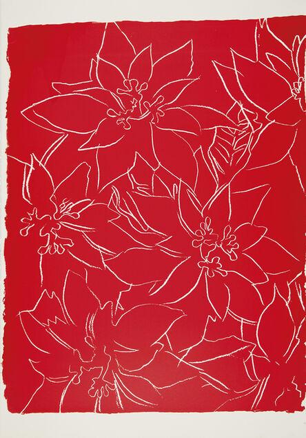 Andy Warhol, 'Poinsettias -unique-', ca. 1983