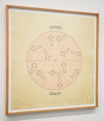 Roberta Allen, '6 Ascending Arrows, 6 Descending Arrows', 1978