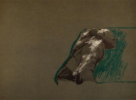 Rafael Canogar, 'Figura sobre la hierba', 1975