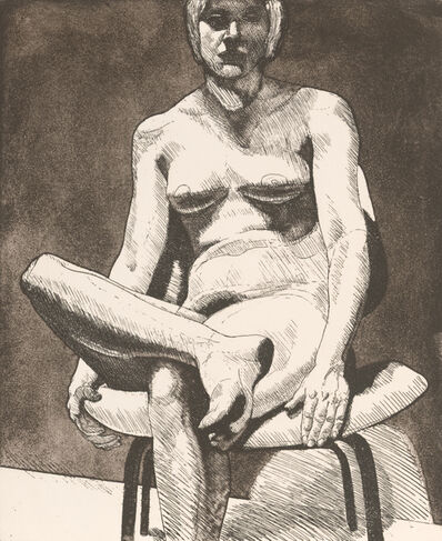 Philip Pearlstein, 'Seated nude', 1971