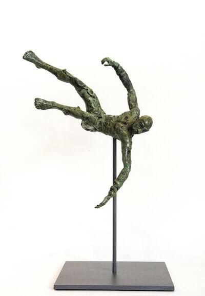 Sylvain Louis Seize, 'Equilibrium No 4 - small, lively, figurative, male, bronze, sculpture series', 2017