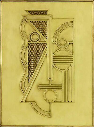 Roy Lichtenstein, 'Modern Head Relief (Brass)', 1970