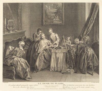 Louis de Surugue de Surgis after Jean-Baptiste Joseph Pater, 'Le desir de plaire', 1743