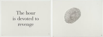 Louise Bourgeois, 'The Hour is Devoted to Revenge -set of text and image', 1999