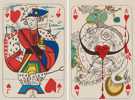 Salvador Dalí, 'Ace of Hearts and Jack of Hearts from Playing Cards', 1967